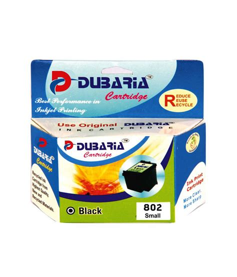 Hp 802 Black By Ok Mart dubaria 802 black ink cartridge for hp 802 black ink