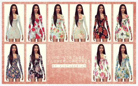 sims 4 custom content dresses sims 4 custom content vintagesimy 10 vintage flower