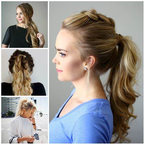quick and easy hairstyles in a ponytail how to do easy hairstyles at home 2017 for girls