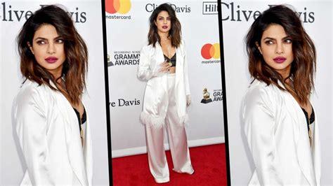 priyanka chopra in grammy awards 2018 priyanka chopra looks at grammy 2018 priyanka chopra s