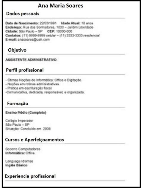 Modelo De Curriculum Vitae Para Completar Em Portugues Modelo De Curr 237 Culo Tradicional Gr 225 Tis Modelo Para Baixar