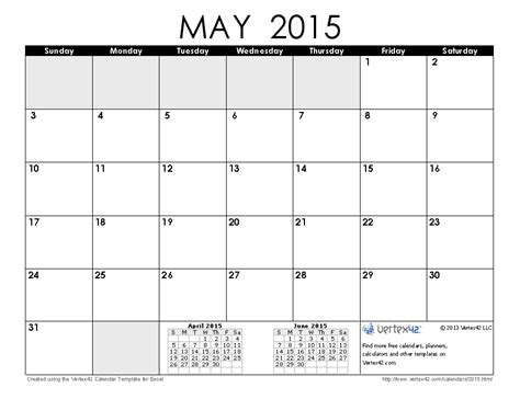 printable planner may 2015 2015 calendar templates and images