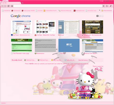google themes gallery google chrome themes gallery hello kitty