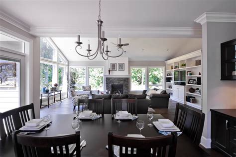 craftsman style custom home traditional dining room