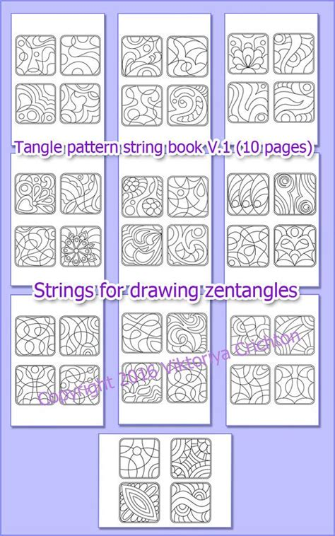 String Book Pdf - 228 best zentangle doodling coloring page images on