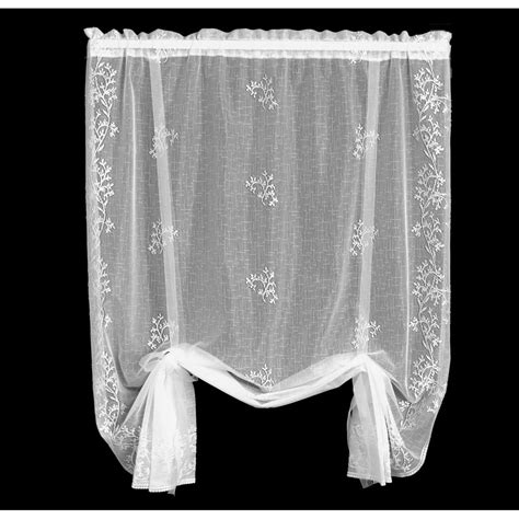 Sheer Lace Curtains Heritage Lace Sheer Drape Balloon Shade Bedbathhome