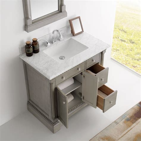 Marble Top Bathroom Vanity by 37 Inch Antique Silver Bathroom Vanity With Mirror Marble Top