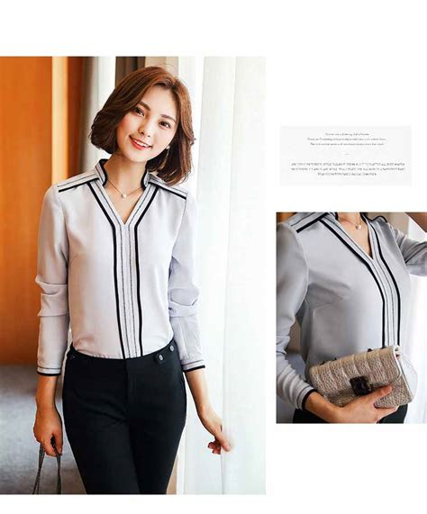 Blouse Import Murah Xy62050black jual blouse import murah collar blouses
