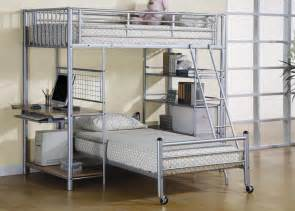Loft And Bunk Beds 7499 Metal Loft Bunk Bed