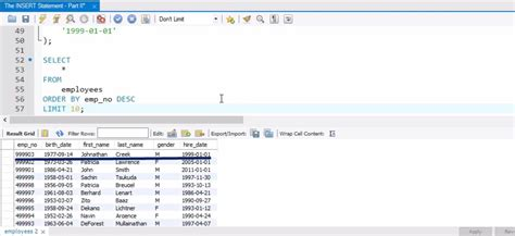 insert query in sql tutorial sql insert statement 20 365 data science