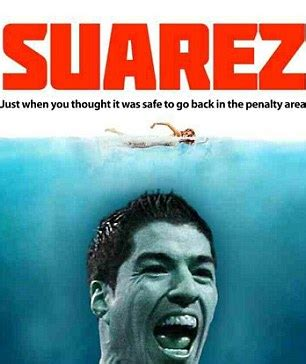Suarez Bite Meme - best luis suarez bite virals on the web from jaws to