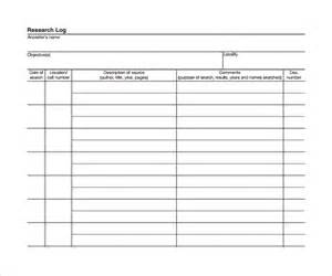 sample research log template 8 free documents in pdf word
