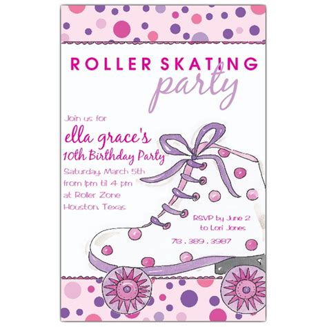 roller skating invitation template dots roller skate invitations paperstyle