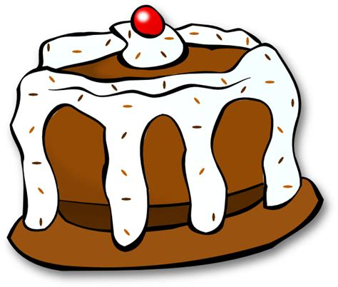 clipart kuchen chocolate cake clip at clker vector clip