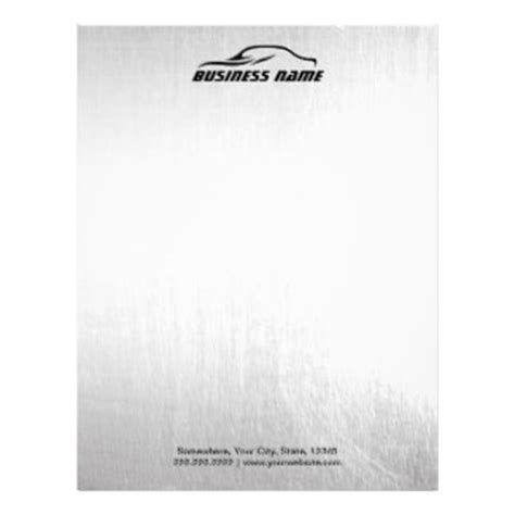 automotive business letterhead template auto letterhead zazzle