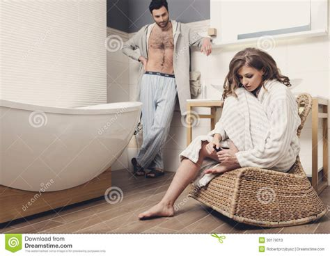 couples in bathroom couple in the bathroom stock photos image 30179013