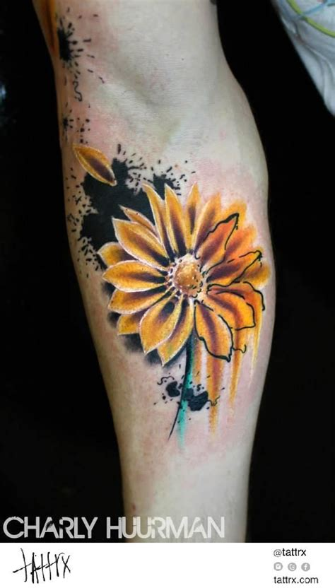 watercolor daisy tattoo 31 watercolor tattoos