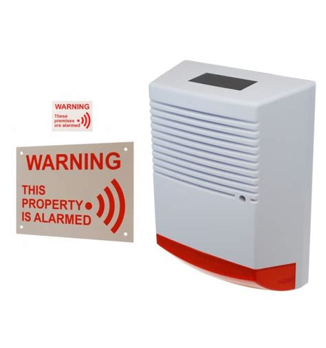 Stiker Horn Warning Sign large solar powered dummy alarm siren alarm sticker external sign