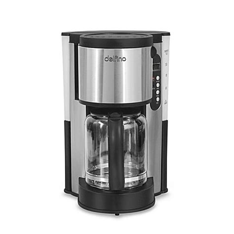 bed bath coffee maker delfino 12 cup programmable stainless steel coffee maker