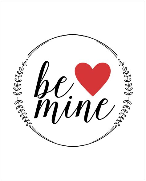 be mine valentines quot be mine quot free printable yellow bliss road