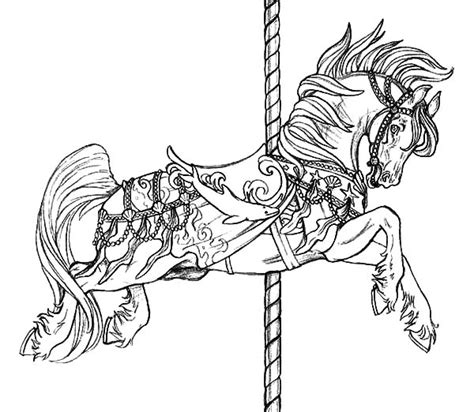 coloring pictures of carousel horses carousel horse coloring pages 2017 valentine s box ideas