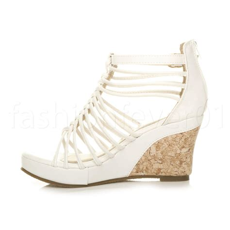 summer wedge sandals womens strappy gladiator platform summer high heel