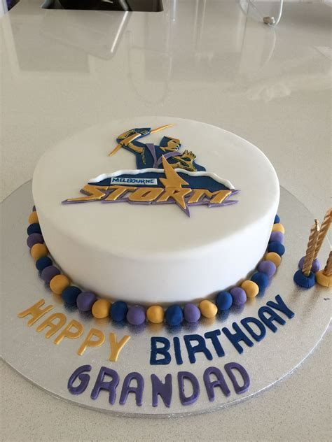 Melbourne Storm Cake   Caked by Carly in 2019   Pinterest