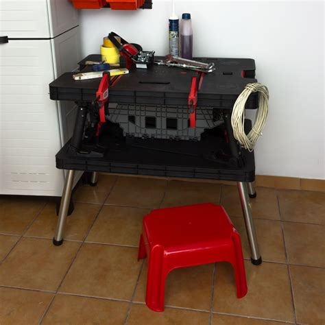 keter folding bench keter tool master pro series folding work bench table