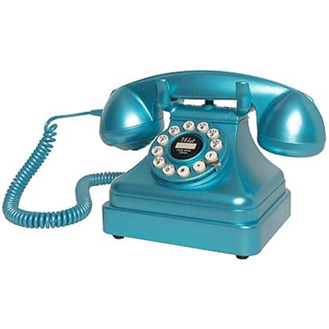Crosley Desk Phone by Crosley Kettle Classic Desk Phone Blue Cr62 Bl Homelement