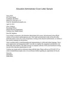 Cover Letter School Administrator by Sle Cover Letter One For Education Search Education And