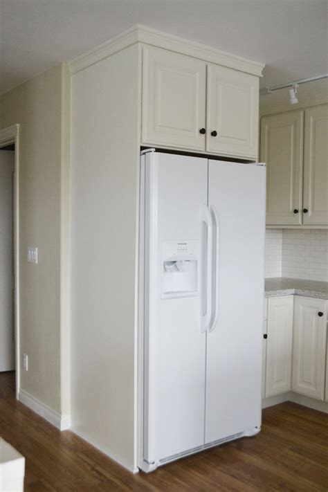 white 36 quot x 15 quot x 24 quot above fridge wall kitchen cabinet momplex vanilla kitchen diy