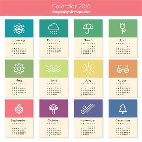 design kalender 2016 gratis lindo 2016 calendario descargar vectores gratis