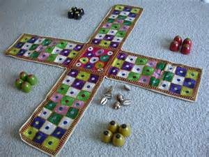 The indian game of chaupat and the closely related game pachisi are