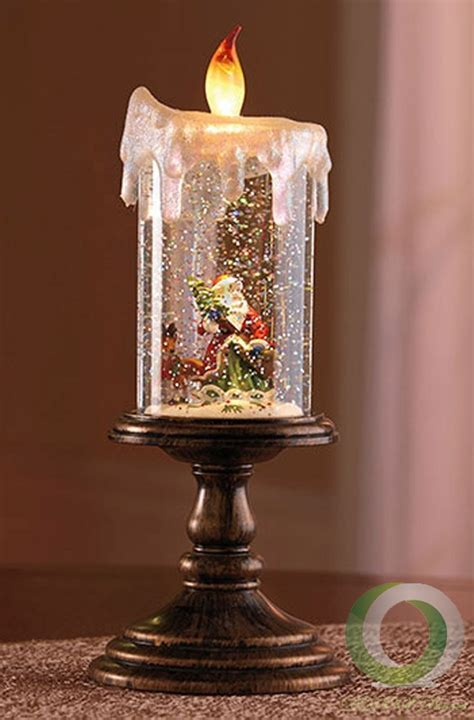 best led light for christmas candle brand new lighted santa candle snow globe flameless led candle