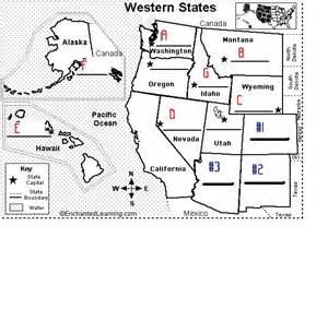 us map postal abbreviations quiz the western states capitals abbreviations proprofs quiz