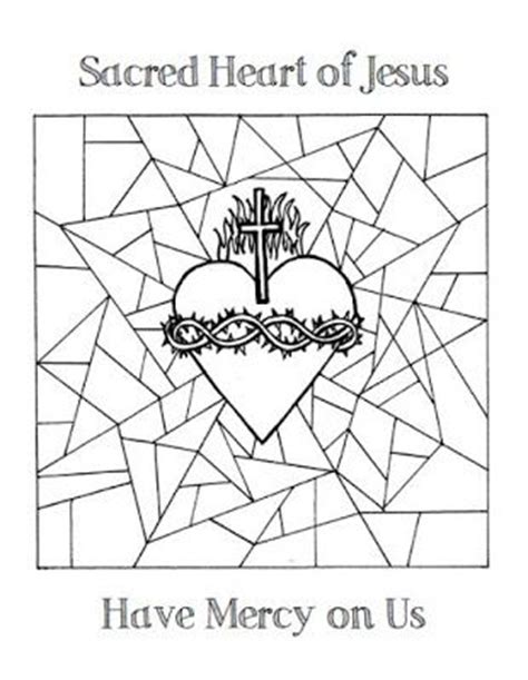 sacred heart coloring page jesus coloring pages sacred heart and coloring pages on