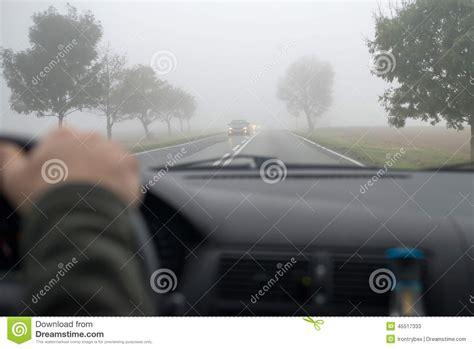 car in fog royalty free stock photography cartoondealer