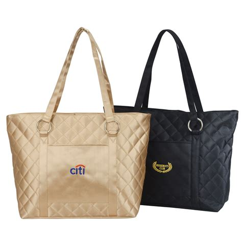 Quilted Totes by Quilted Tote Bag Custom Printed Quilted