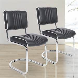 Z Shaped Dining Room Chairs 2 Homcom Z Shaped Padded Metal Dining Chairs The Ideal