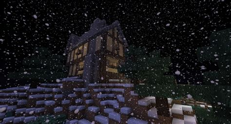 Minecraft Winter Cabin by Winter Lodge Minecraft Project