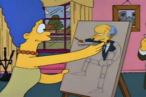 simpsons painting the simpsons painting mr burns clip hulu