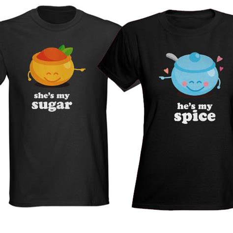 T Shirts For Couples Sugar And Spice T Shirts