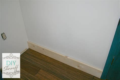 Modern Baseboard family room baseboard diy installation and caulking