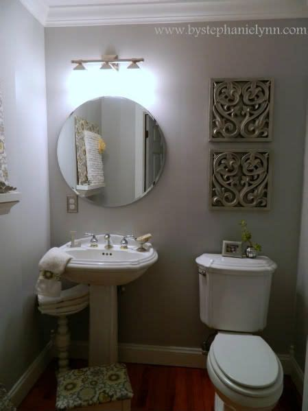my powder room decorating makeover for less than 15