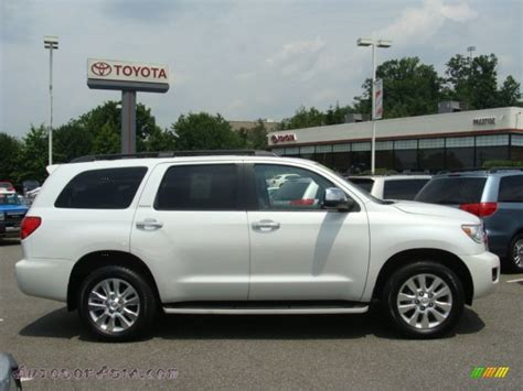 2008 Toyota Sequoia Platinum 2008 Toyota Sequoia Platinum 4wd In White 015410