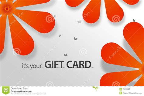 Orange Gift Card - orange flower giftcard royalty free stock photography image 20256007