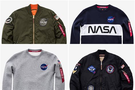 Nasa Bomber Navy alpha industries nasa bomber jackets hiconsumption