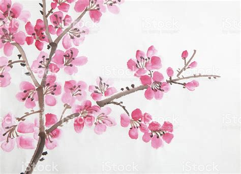 new year flower drawing painting of flowers stock photo more pictures of