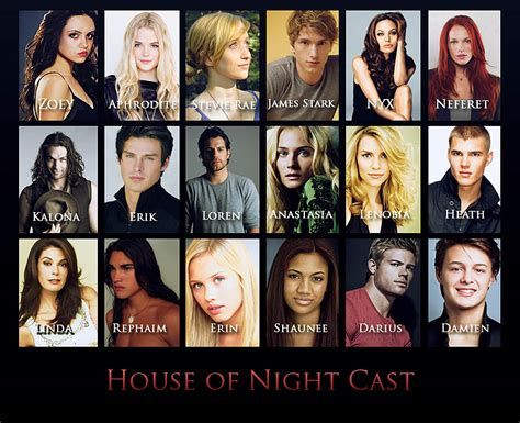 house of night house of night rollenverteilung film buch
