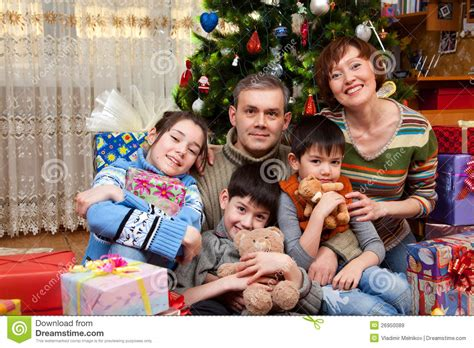 happy family are celebrate new year royalty free stock